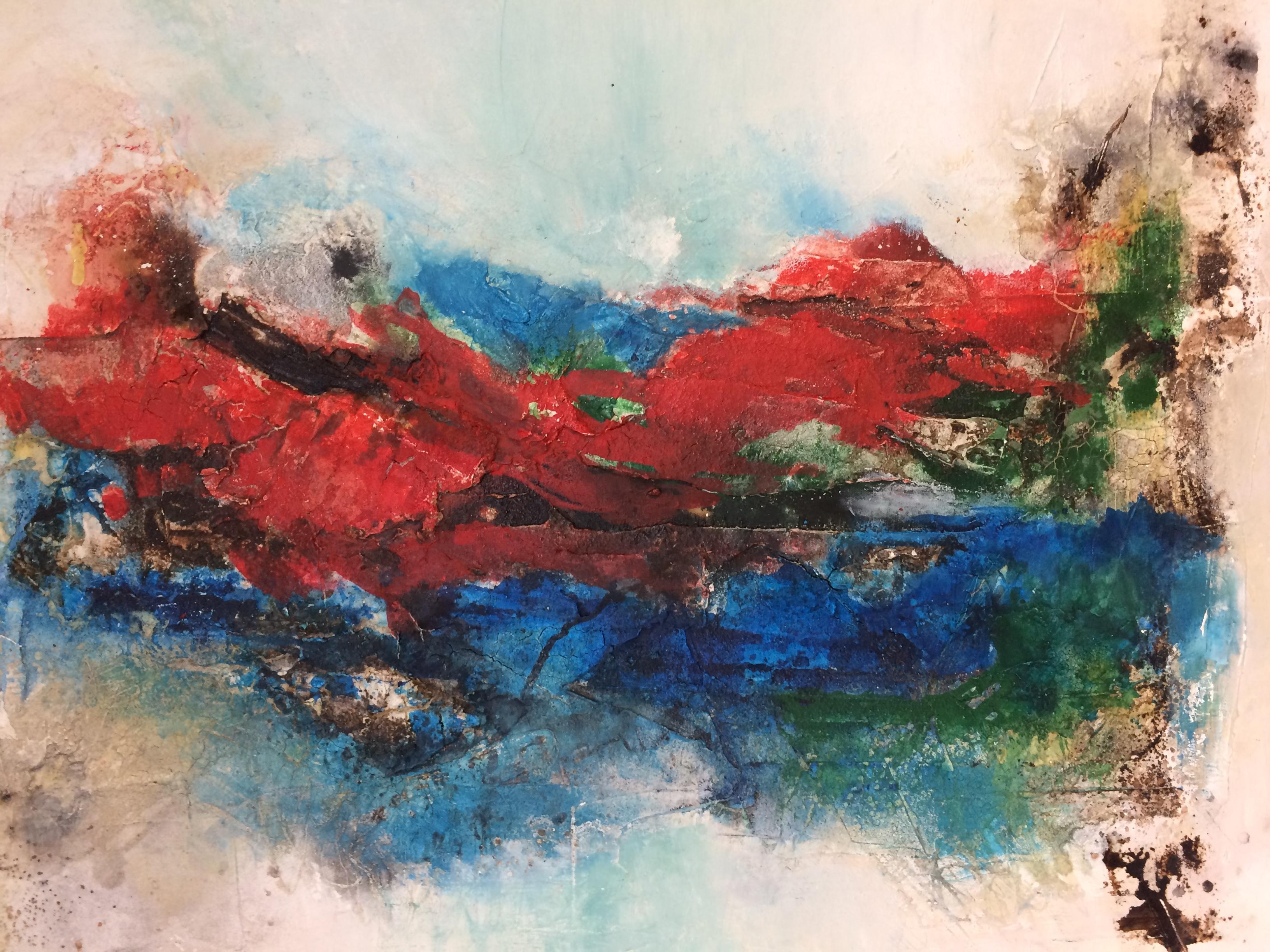 Freie Acrylmalerei  Gabriele Köster Klinik-Foyer 1. Mai-30. Juni 2017