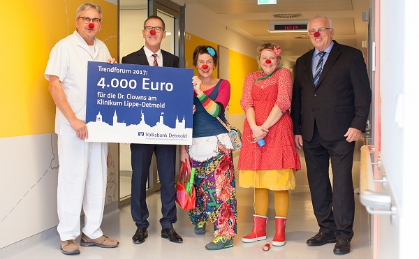 Doktor-Clown-Visiten im Klinikum Lippe Detmold